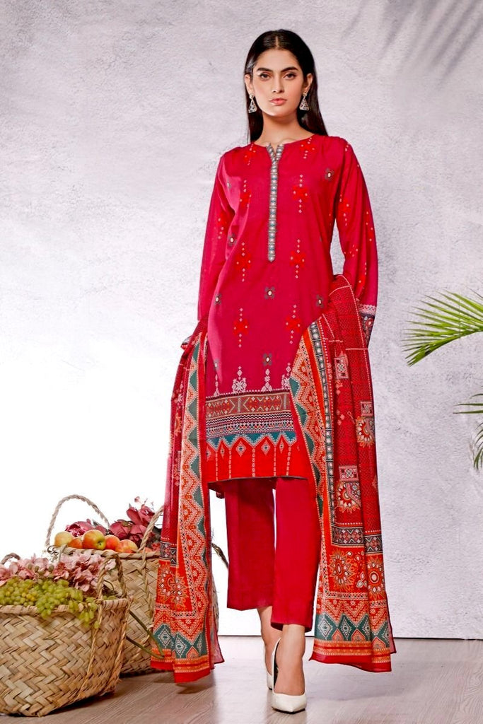 Gul Ahmed Azaadi Edition – 3 PC Unstitched Digital Printed Lawn Suit CLP-54 B