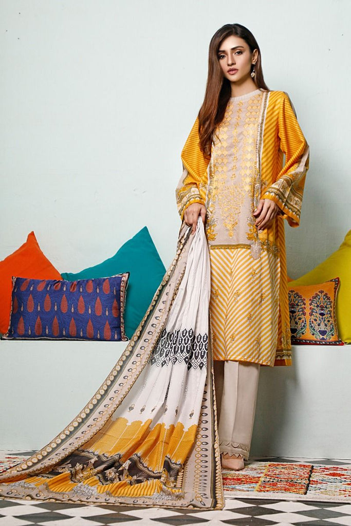 Gul Ahmed Mid-Summer Baraan Collection – 3 PC Unstitched Digital Embroidered Suit CL-892