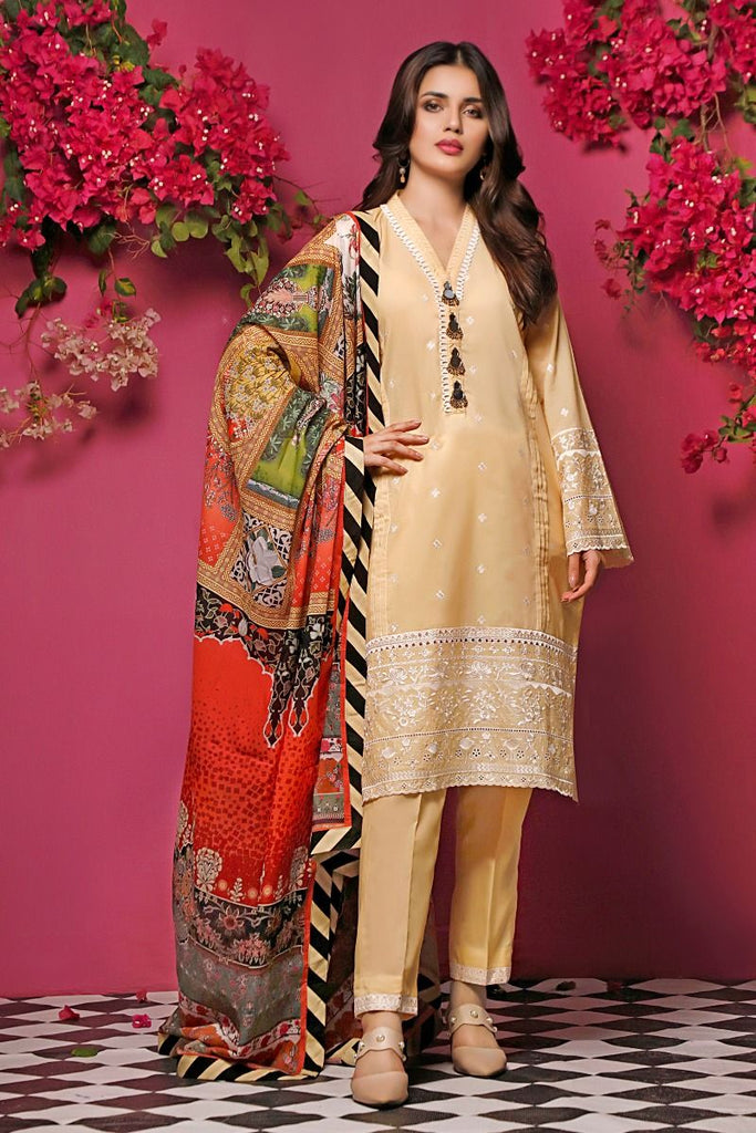 Gul Ahmed Mid-Summer Baraan Collection – 3 PC Unstitched Digital Embroidered Suit CL-971