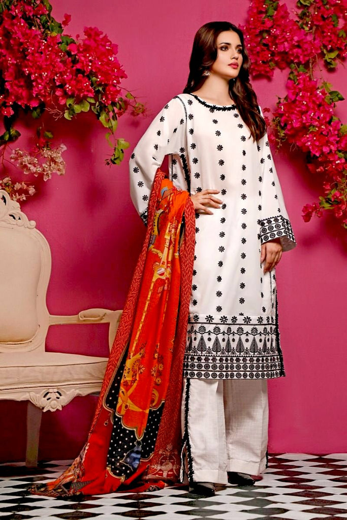 Gul Ahmed Mid-Summer Baraan Collection – 3 PC Unstitched Digital Embroidered Suit CL-970