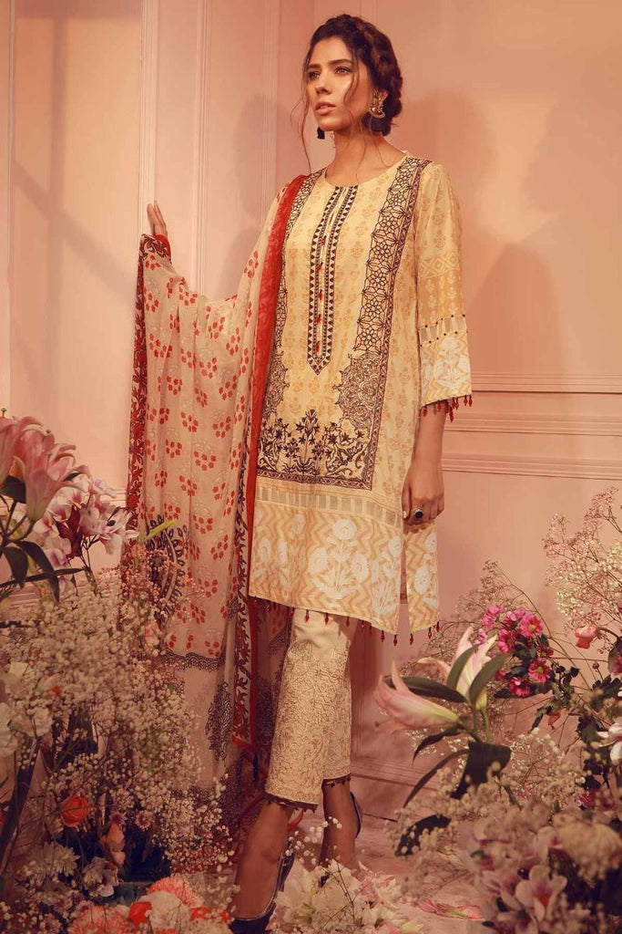 Khaadi Summer Lawn Collection 2018 Vol-2 – K18203 Beige