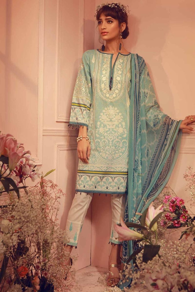 Khaadi Summer Lawn Collection 2018 Vol-2 – K18206 Blue