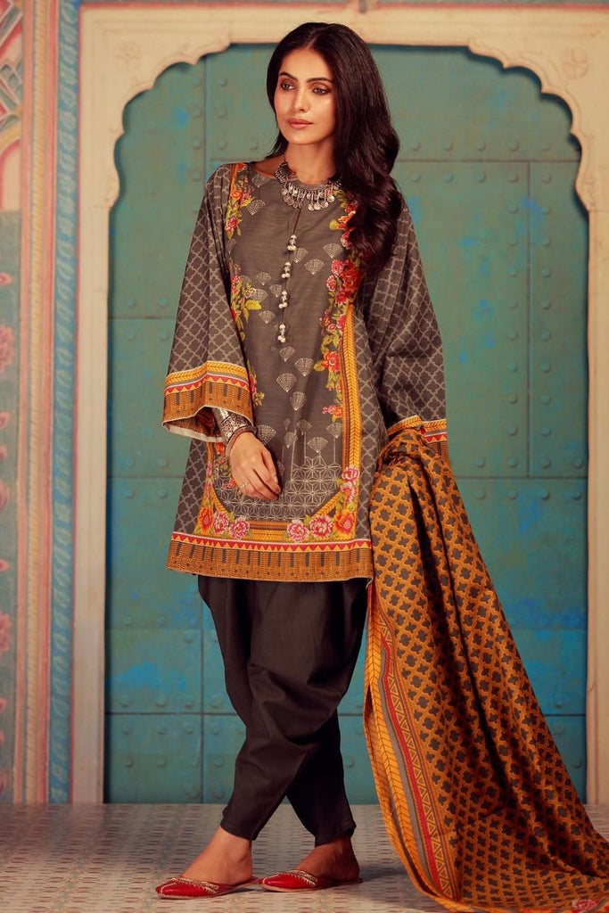 Khaadi Winter Collection 2017 – KA17604 Grey 3Pc