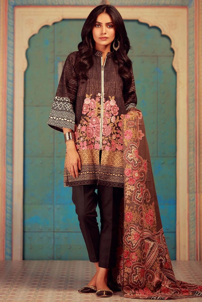 Khaadi Winter Collection 2017 – KA17610 Grey 3Pc