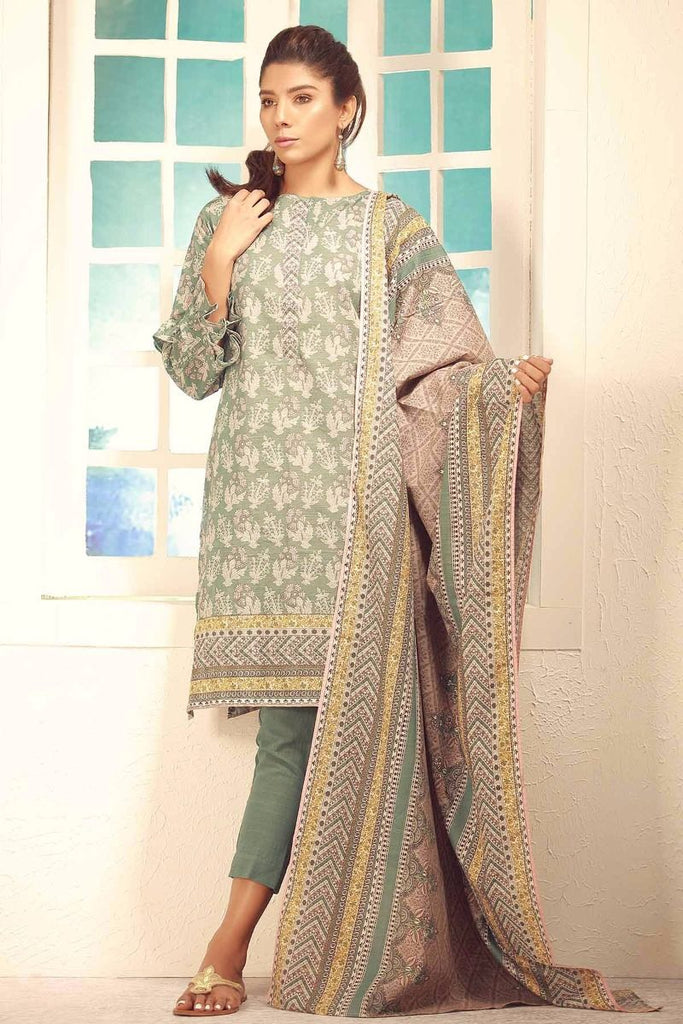 Khaadi Winter Collection 2017 – Ka17702 Green 3Pc