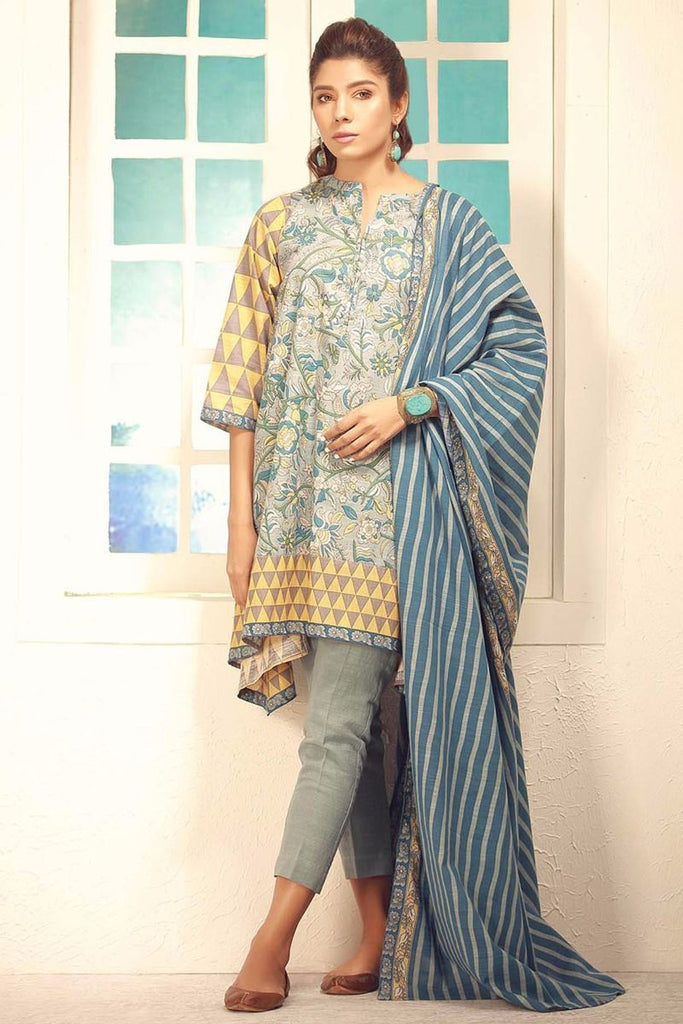 Khaadi Winter Collection 2017 – KA17704 Blue 3Pc
