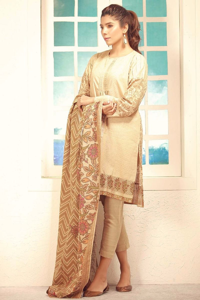 Khaadi Winter Collection 2017 – Ka17707 Beige 3Pc