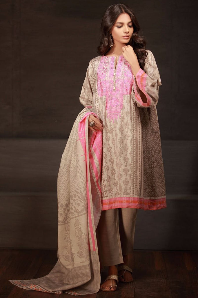 Khaadi Winter Tales Vol-2 – KB17702-Beige-3Pc