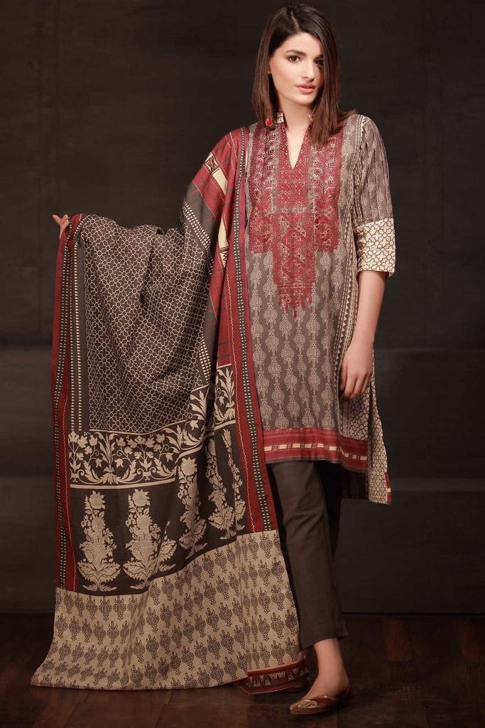 Khaadi Winter Tales Vol-2 – KB17702-Grey-3Pc