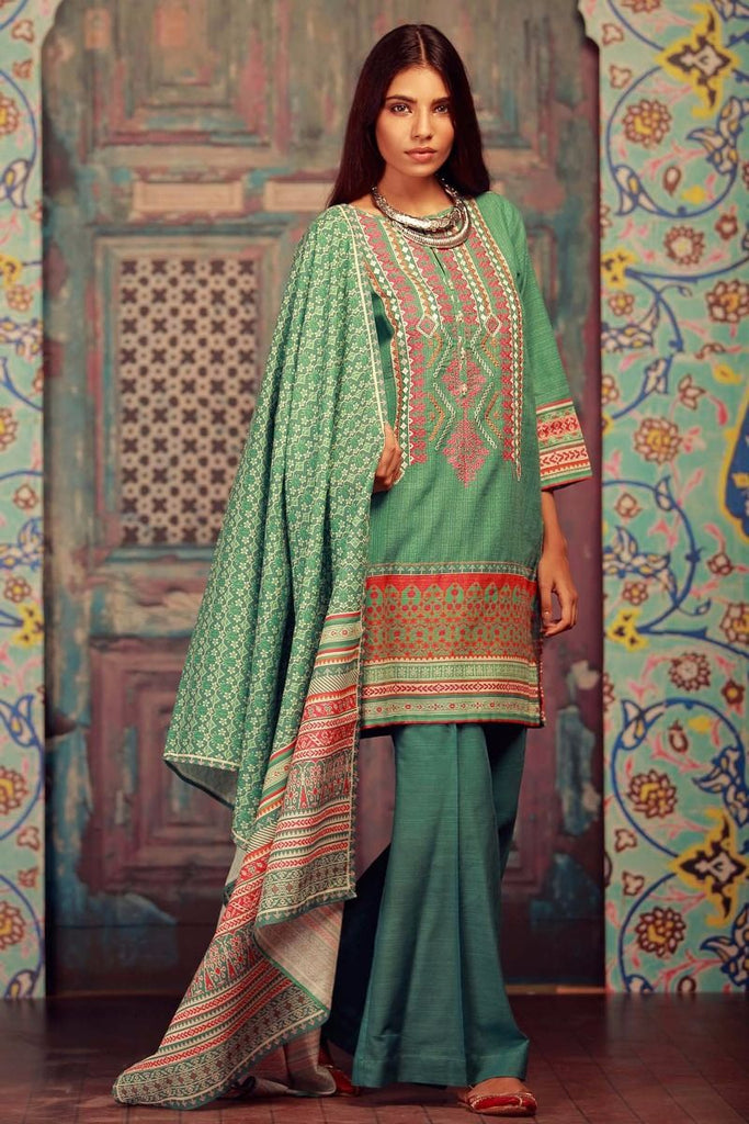 Khaadi Winter Collection 2017 – KB17603 Green 3Pc