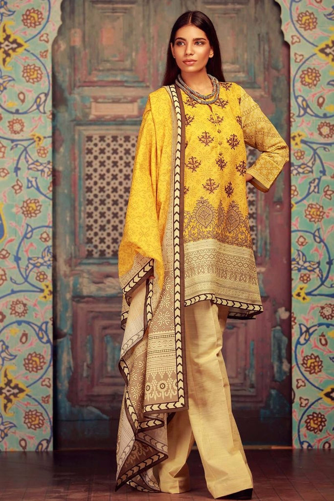 Khaadi Winter Collection 2017 – KB17605 Mustard 3Pc