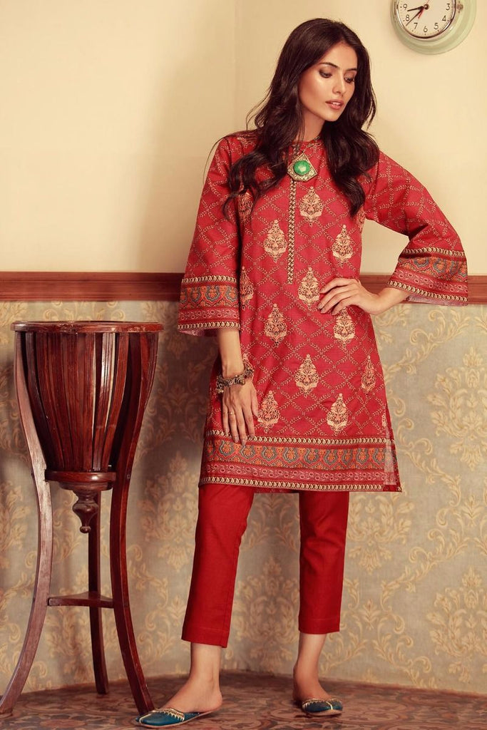 Khaadi Winter Collection 2017 – KI17601 Maroon 2Pc
