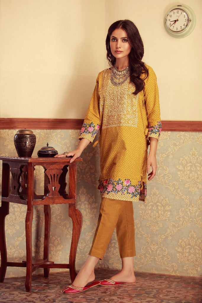 Khaadi Winter Collection 2017 – KI17602 Mustard 2Pc