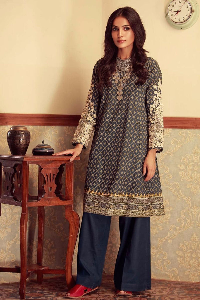 Khaadi Winter Collection 2017 – KI17604 Blue 2Pc