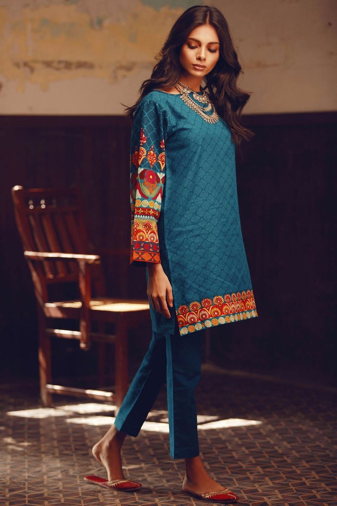 Khaadi Winter Collection 2017 – KJ17603 Blue 2Pc