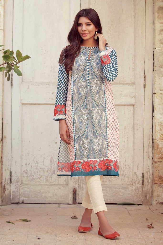 Khaadi Winter Collection 2017 – KJ17615 Orange 2Pc