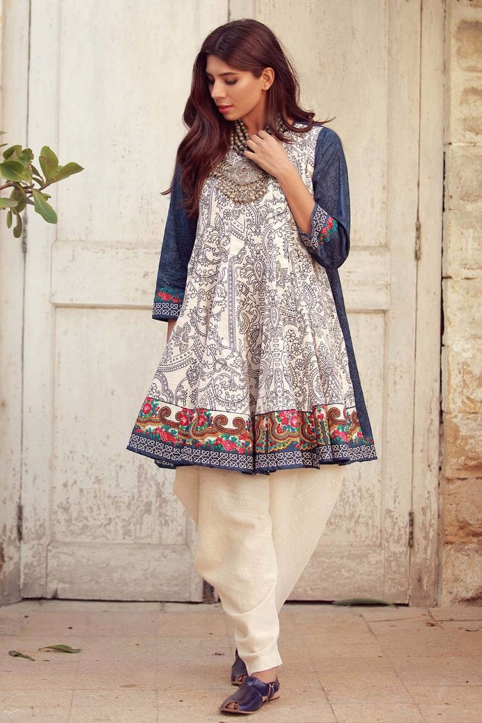 Khaadi Winter Collection 2017 – KJ17616 Off White 2Pc