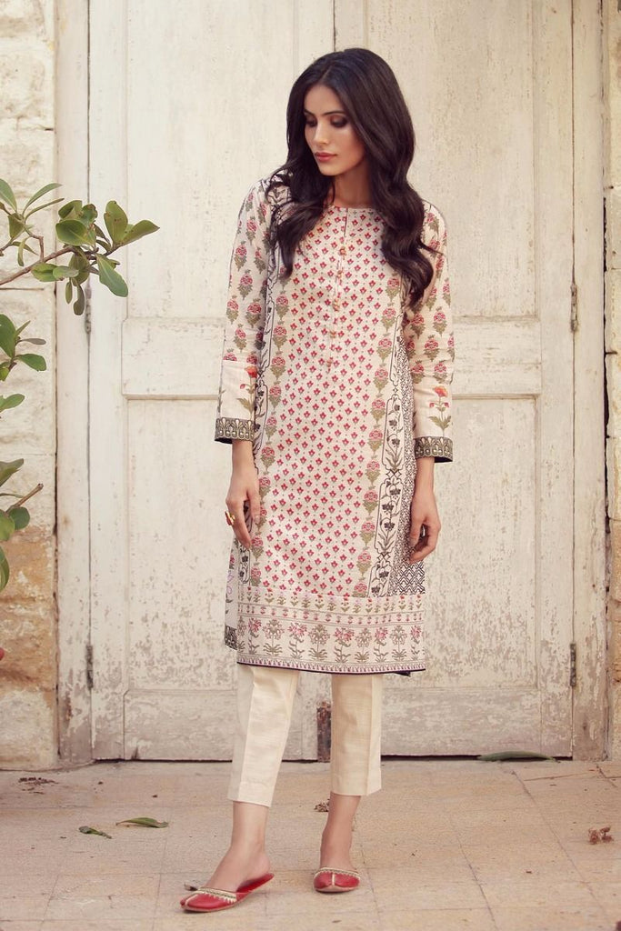 Khaadi Winter Collection 2017 – KJ17619 Off White 2Pc
