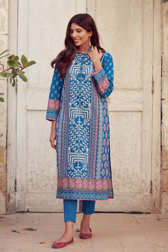 Khaadi Winter Collection 2017 – KJ17620 Blue 2Pc