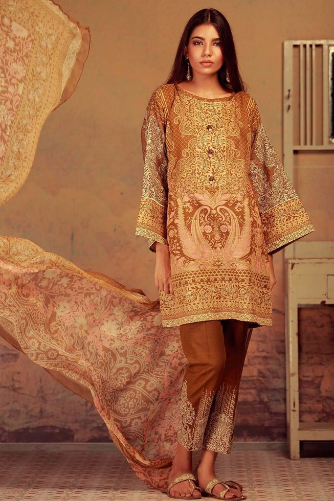 Khaadi Winter Collection 2017 – KK17602 Beige 3Pc