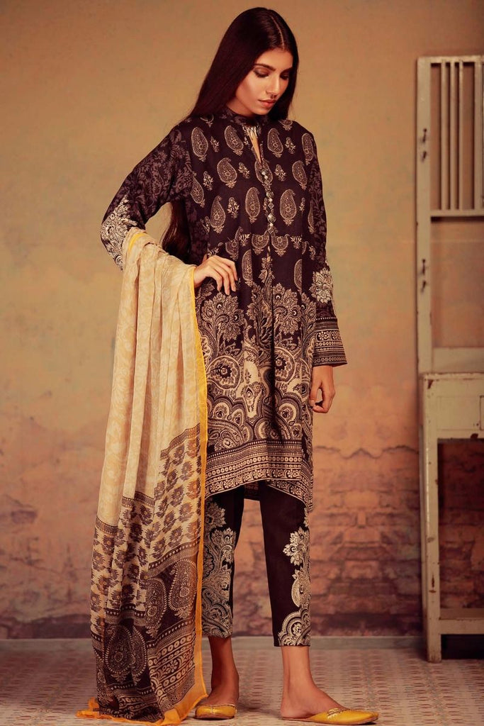 Khaadi Winter Collection 2017 – KK17604 Black 3Pc