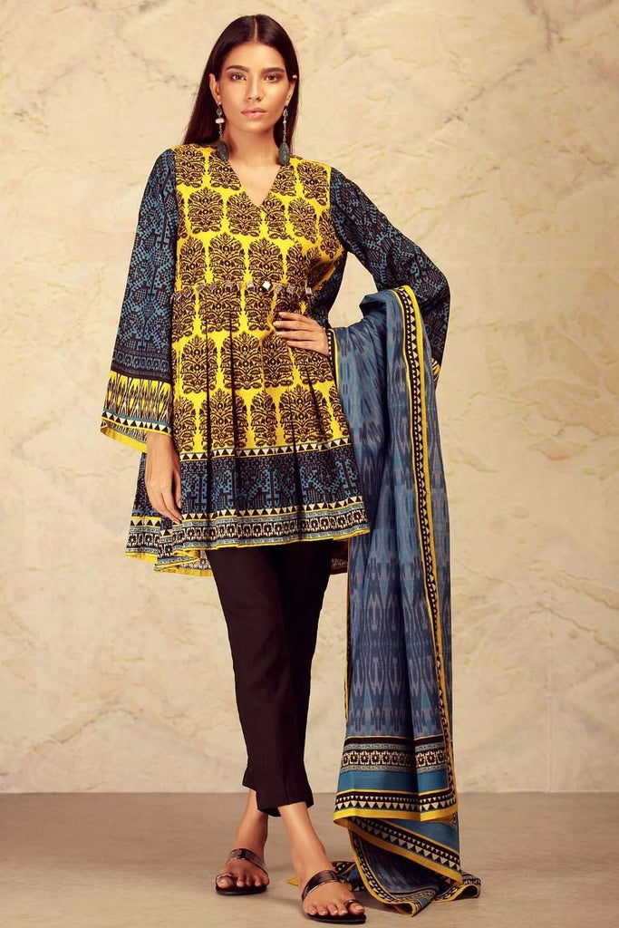 Khaadi Winter Collection 2017 – KL17601 Blue 2Pc