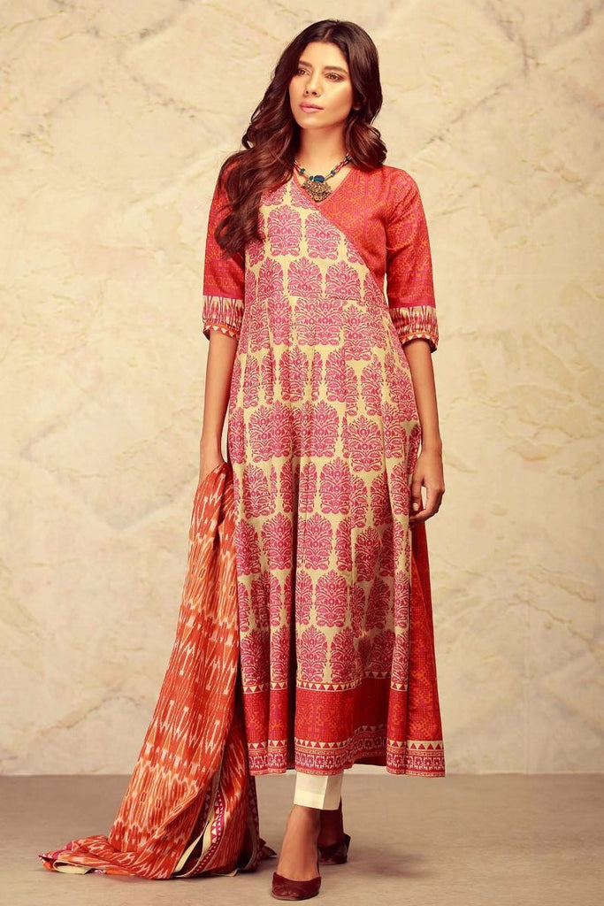 Khaadi Winter Collection 2017 – KL17601 Pink 2Pc