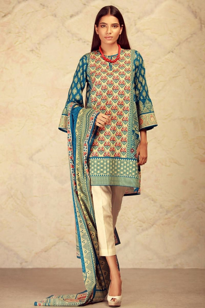 Khaadi Winter Collection 2017 – KL17603 Blue 2Pc
