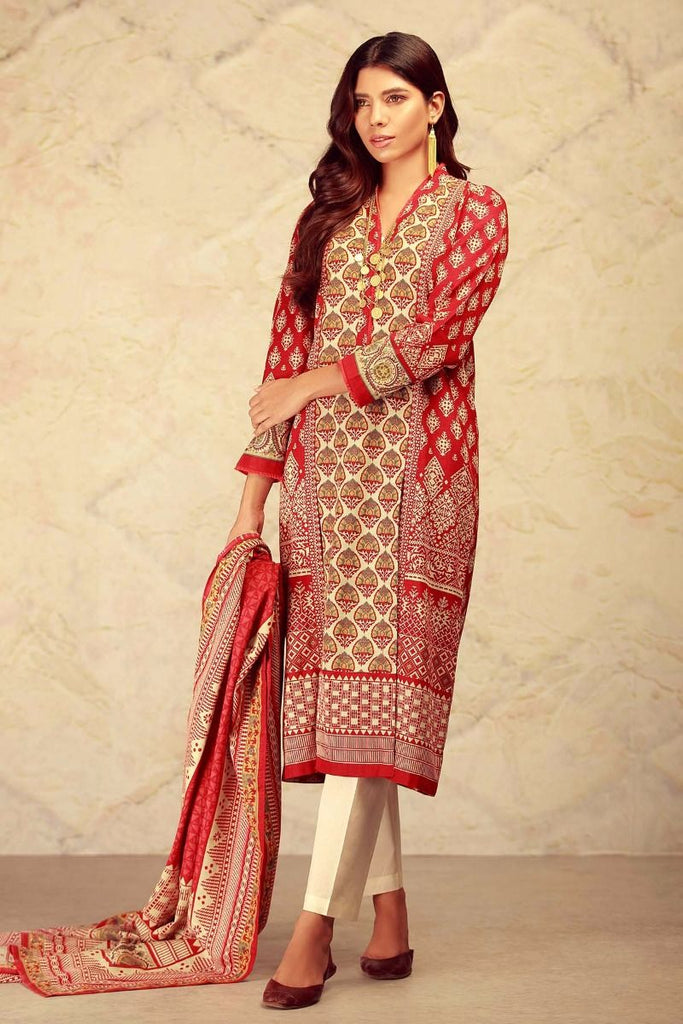 Khaadi Winter Collection 2017 – KL17603 Red 2Pc
