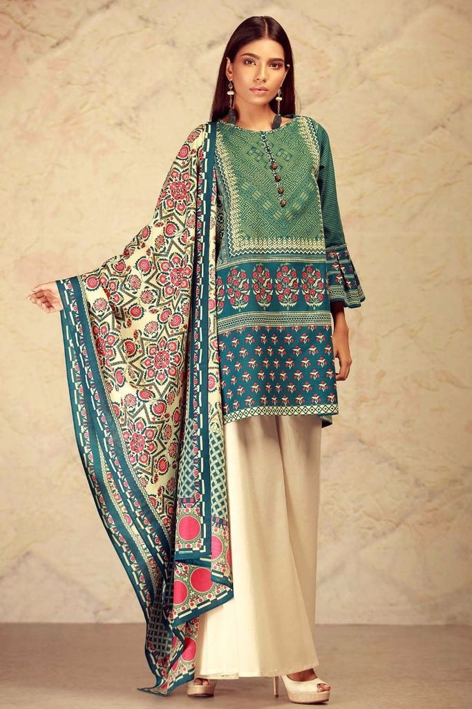 Khaadi Winter Collection 2017 – KL17604 Blue 2Pc