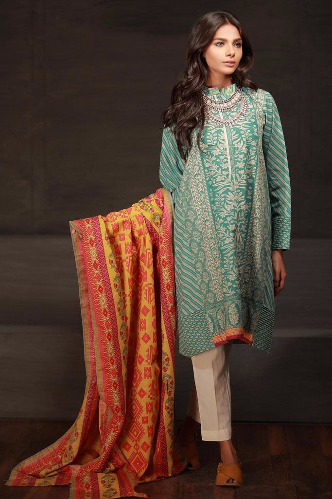 Khaadi Winter Collection 2017 – KL17701 Ferozi 2PC