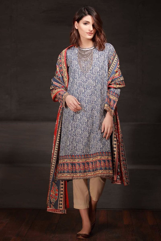 Khaadi Winter Tales Vol-2 – KL17702-Blue-2PC