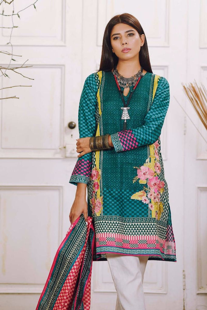 Khaadi Winter Collection 2017 – KM17601 Green 2Pc