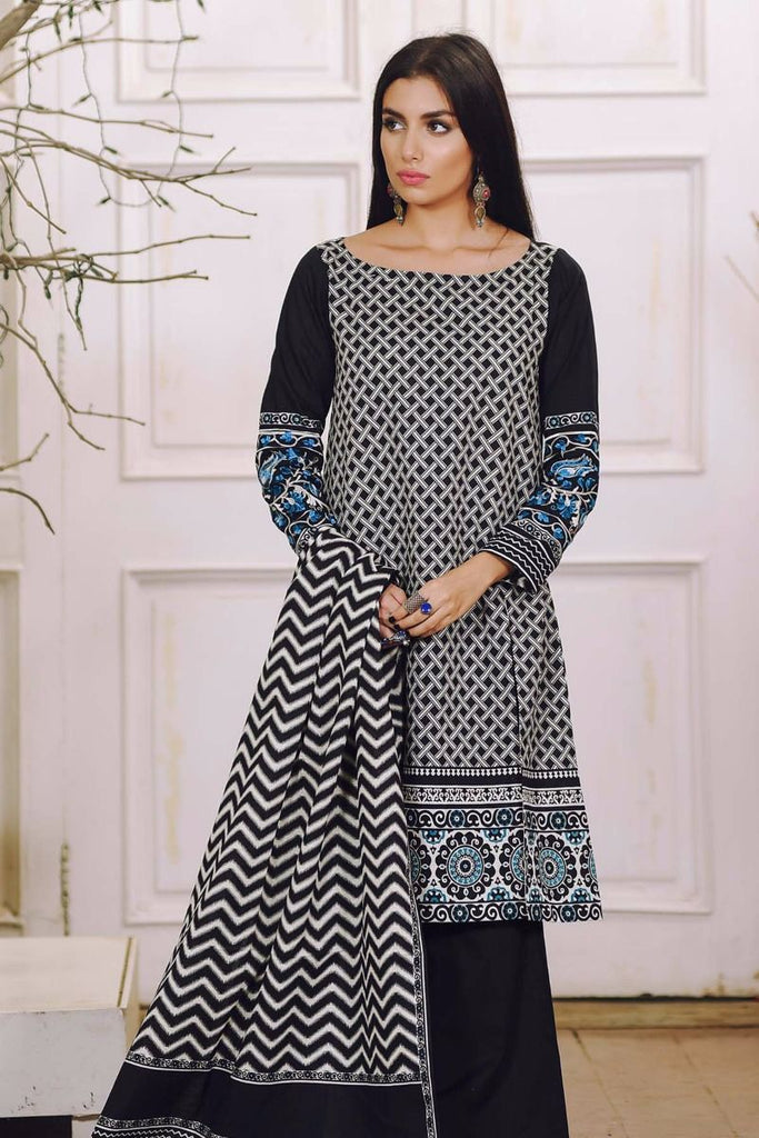 Khaadi Winter Collection 2017 – KM17602 Black 2Pc