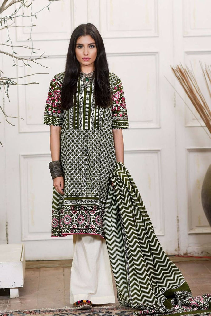Khaadi Winter Collection 2017 – KM17602 Green 2Pc