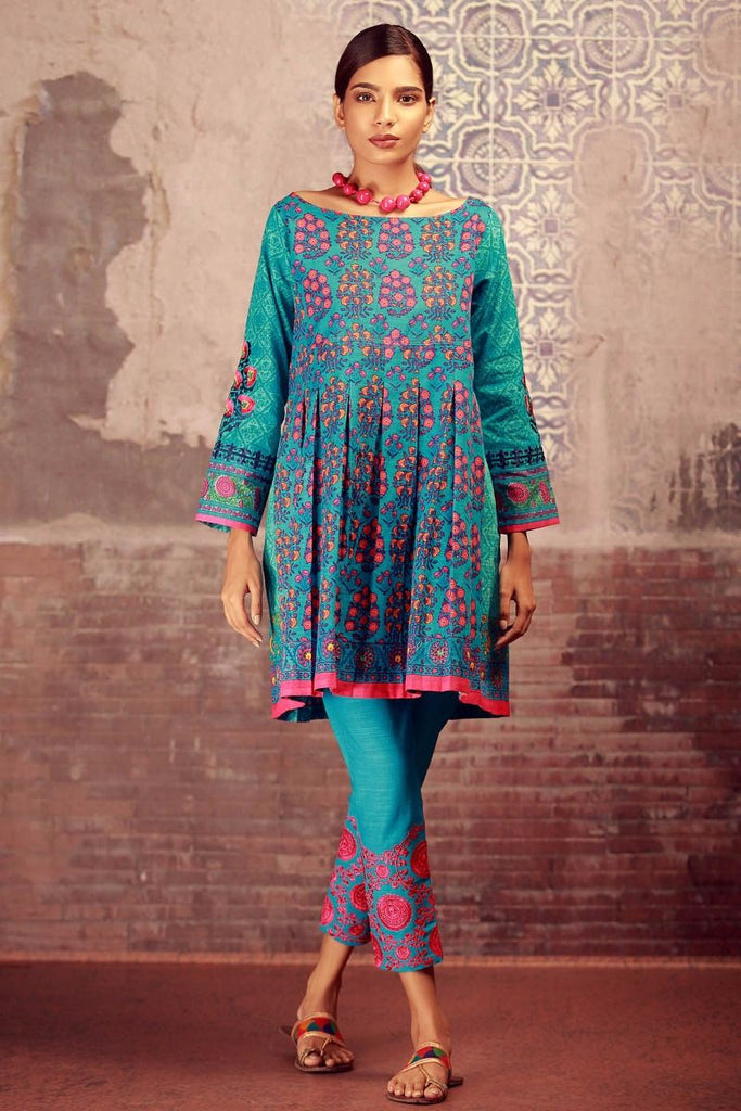 Khaadi Winter Collection 2017 – KN17602 Blue 2Pc