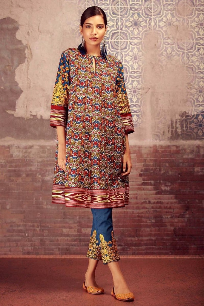 Khaadi Winter Collection 2017 – KN17604 Blue 2Pc
