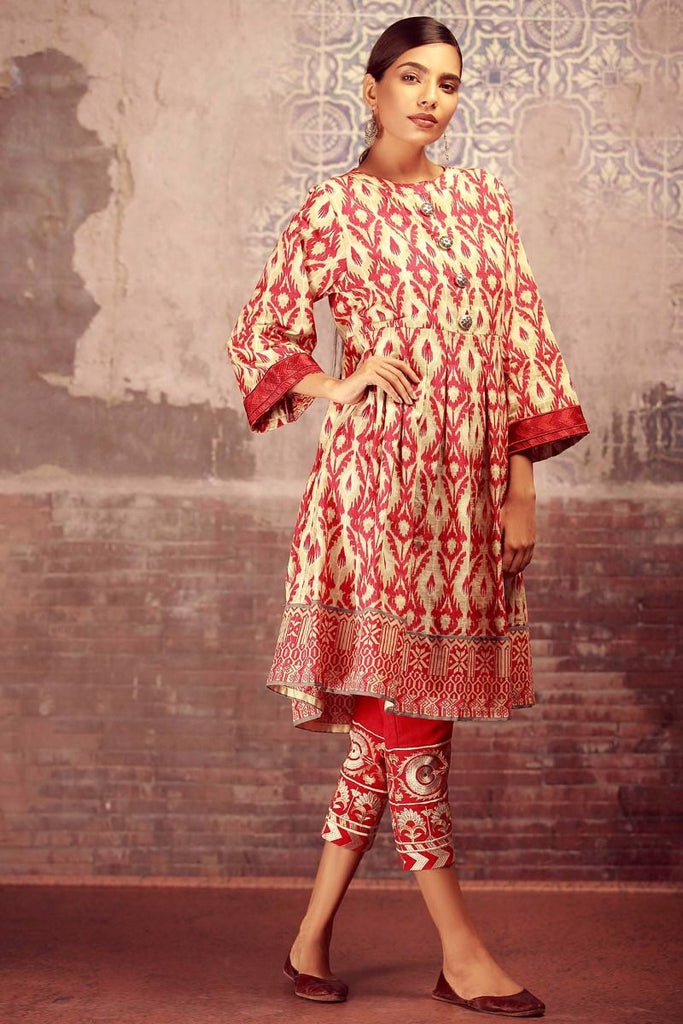 Khaadi Winter Collection 2017 – KN17605 Red 2Pc