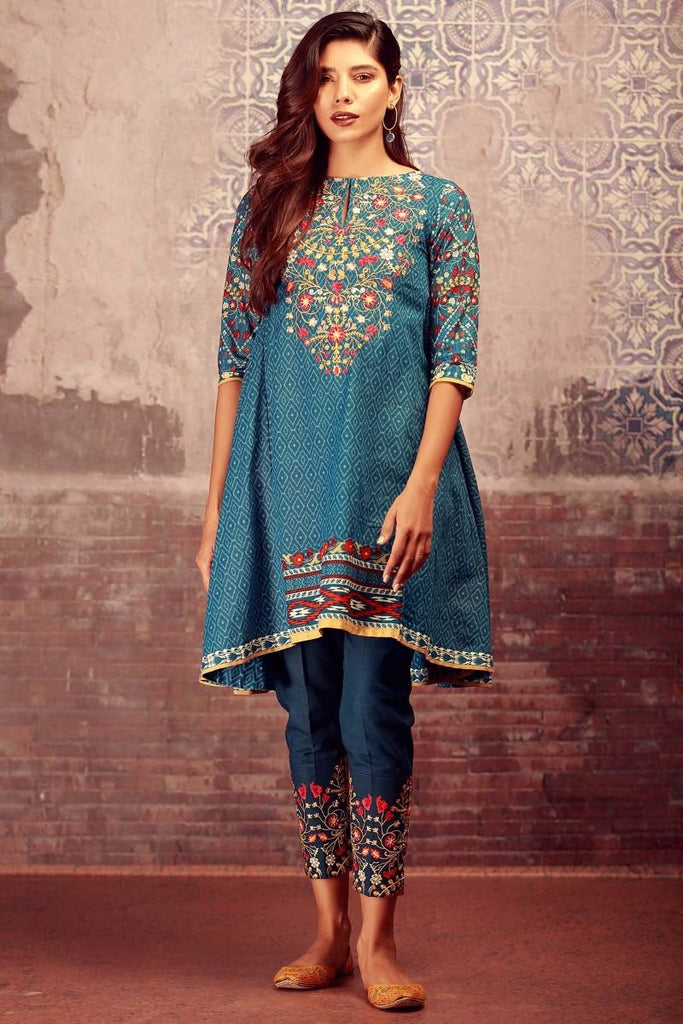 Khaadi Winter Collection 2017 – KN17606 Blue 2Pc