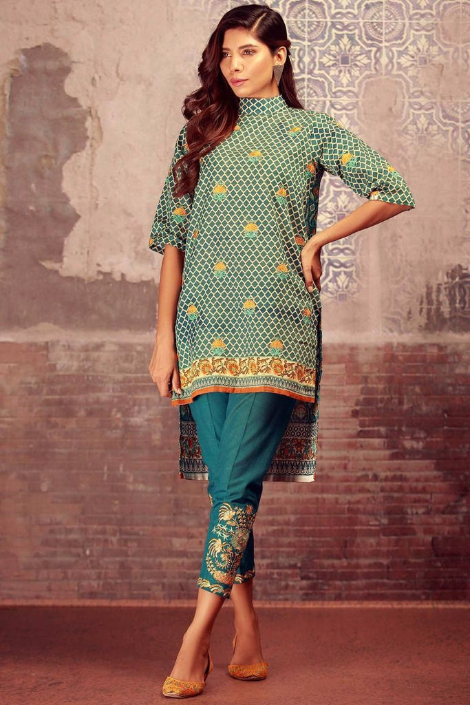 Khaadi Winter Collection 2017 – KN17607 Blue 2Pc