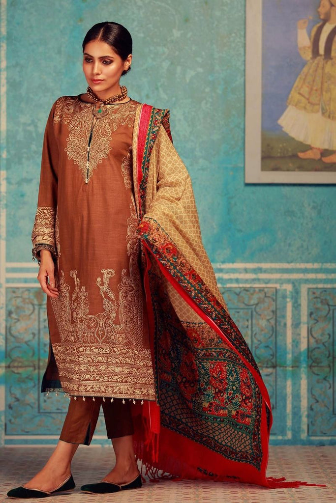 Khaadi Winter Collection 2017 – KO17604 Beige 3Pc