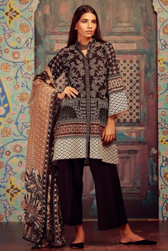 Khaadi Winter Collection 2017 – KR17604 Black 3PC