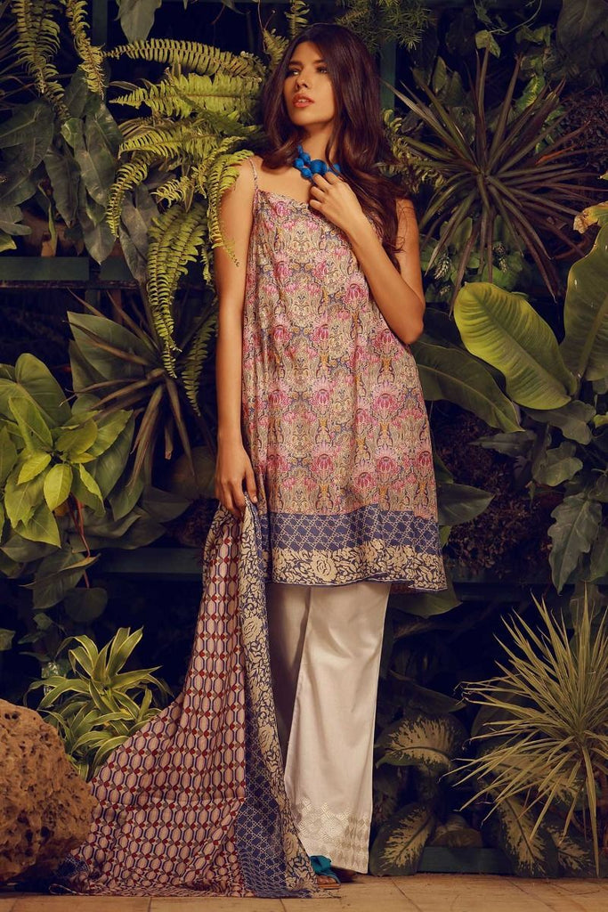 Khaadi Tropical Escape Lawn Collection 2018 – L18101 Purple 2Pc