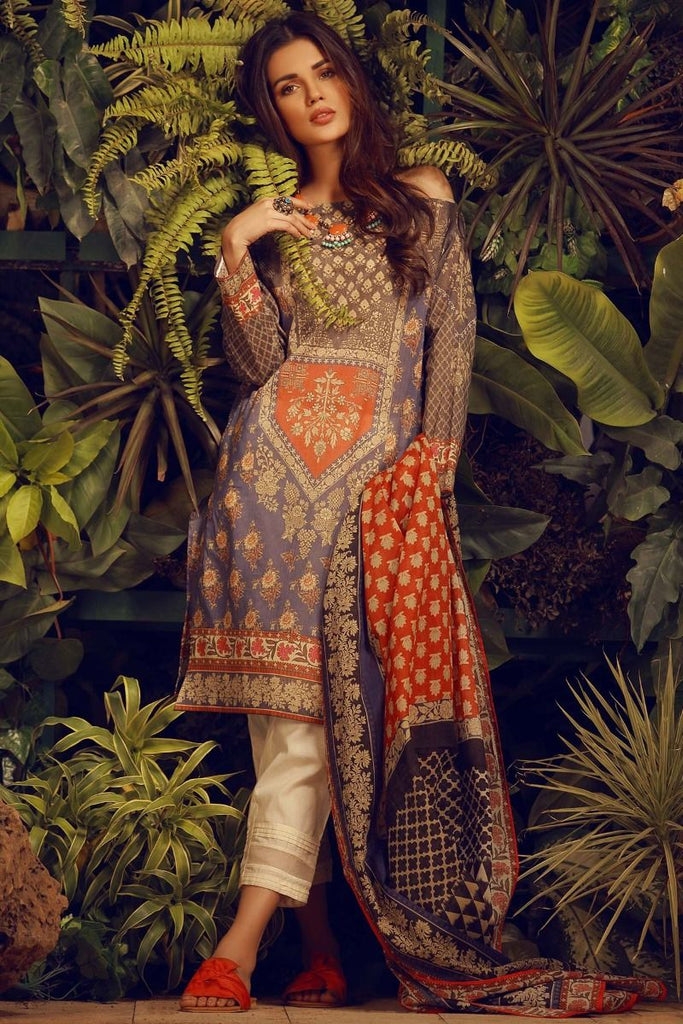 Khaadi Tropical Escape Lawn Collection 2018 – L18103 Blue 2Pc