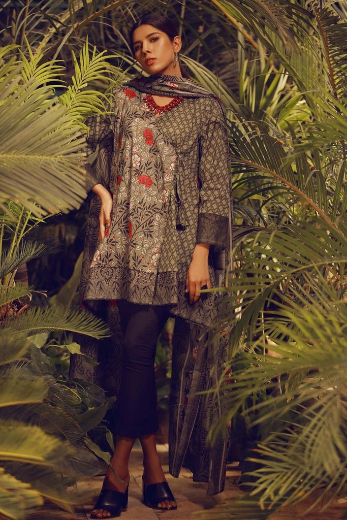 Khaadi Tropical Escape Lawn Collection 2018 – L18110 Green 2Pc