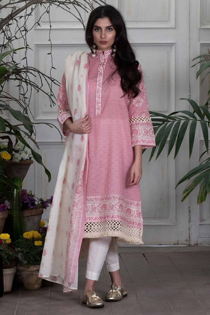 Khaadi Summer Lawn Collection 2018 Vol-2 – L18203 Pink