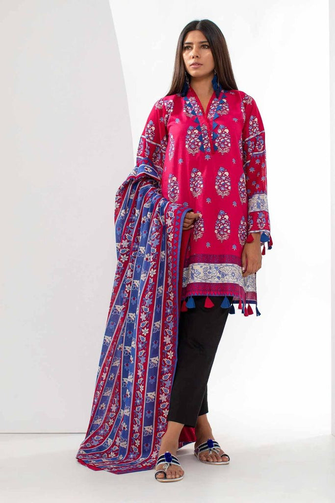 Khaadi Mid Summer Lawn Collection 2018 – L18302 Red 2Pc