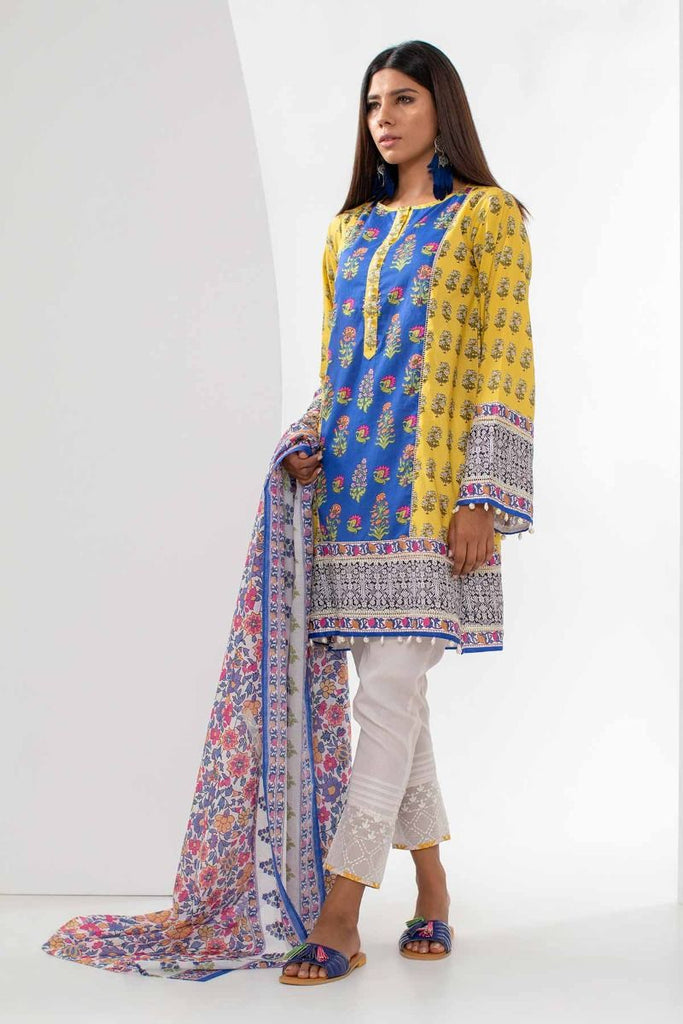 Khaadi Mid Summer Lawn Collection 2018 – L18304 Yellow 2Pc