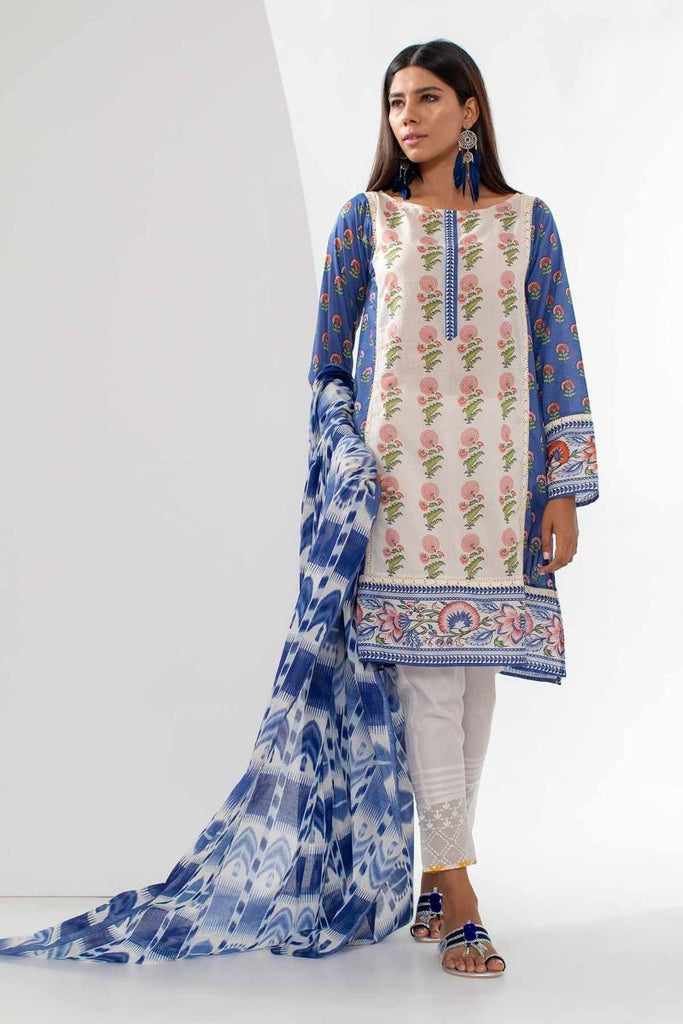 Khaadi Mid Summer Lawn Collection 2018 – L18307 Blue 2Pc