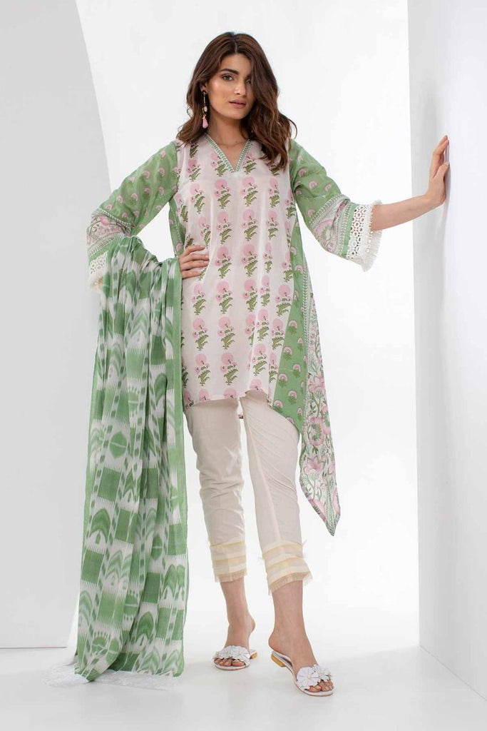 Khaadi Mid Summer Lawn Collection 2018 – L18307 Green 2Pc